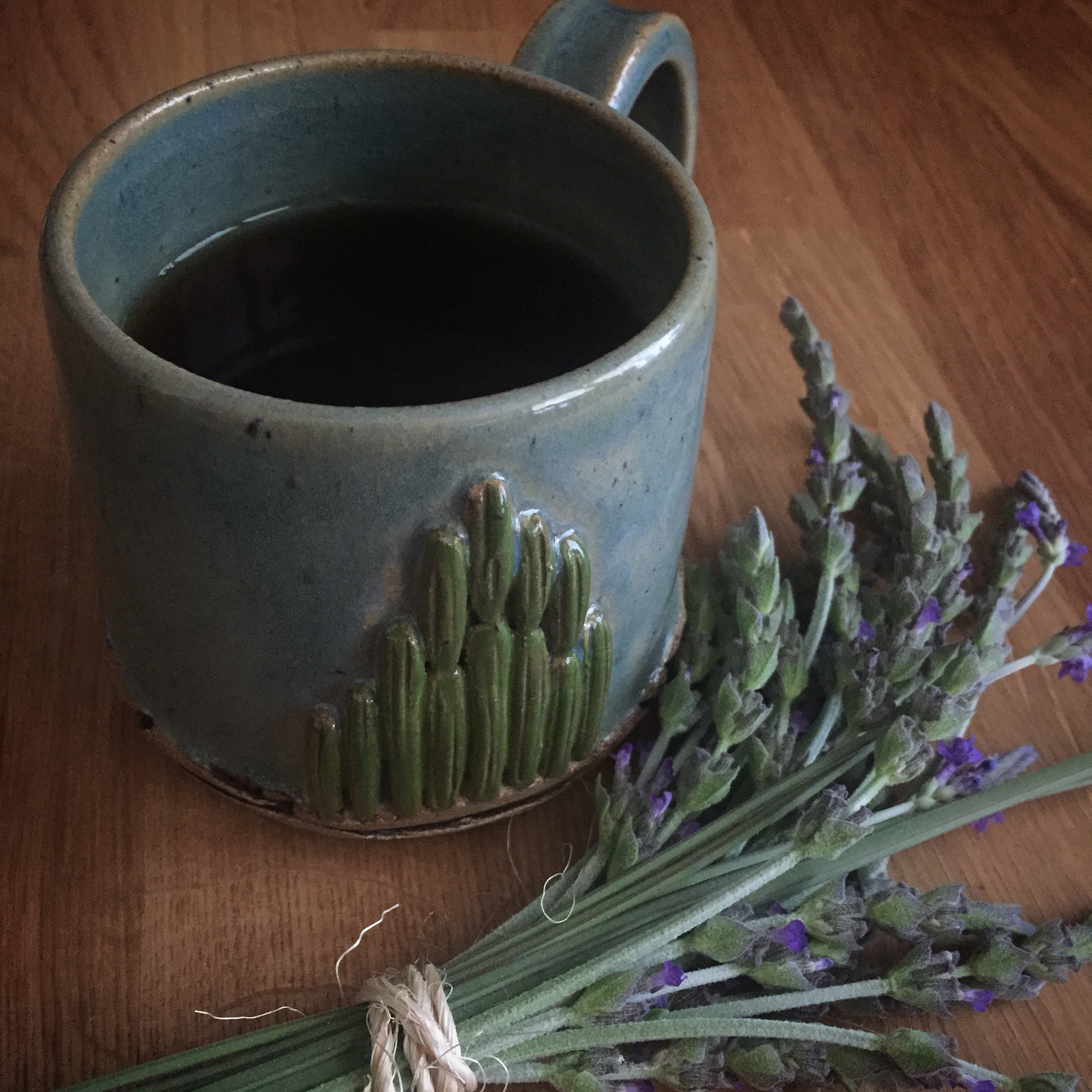 Mug handcrafted by Seedling Clayworks from Tucson, AZ