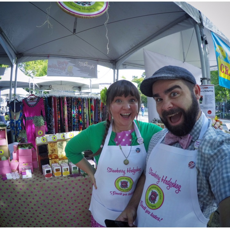 Matty and Tracy at 2015 World Maker Faire at the New York Hall of Science as part of the BUST Magazine Craftacular