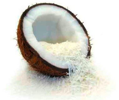 Coconut shreds:   used atop our Coconut Almond soap.    ewg = 1