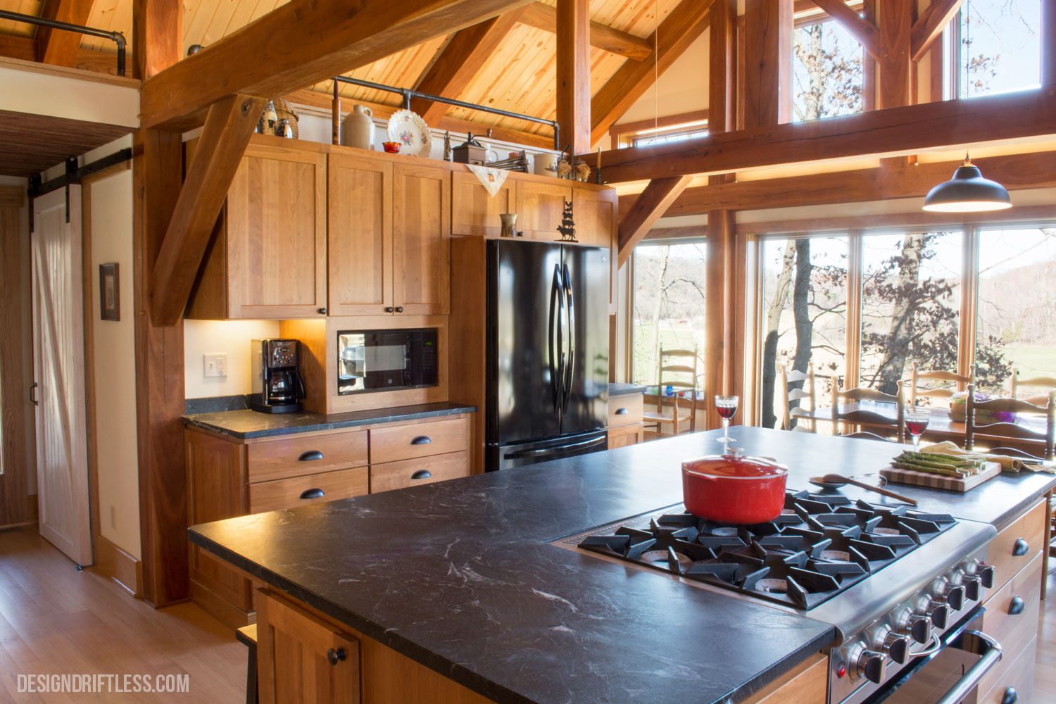 T-Squared Designs designed the house and within it, the kitchen, to reflect the clients' tastes as well as the pastoral setting