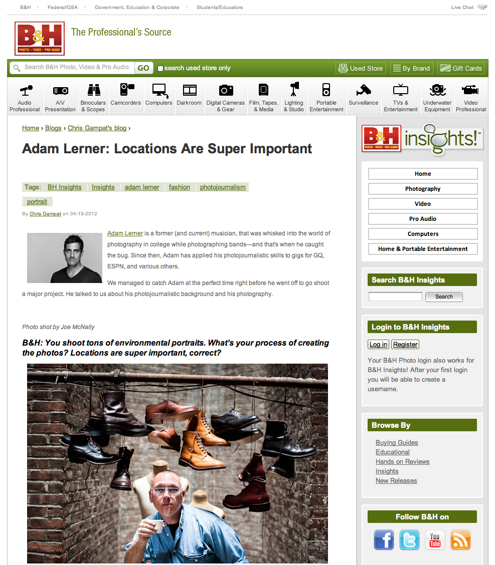 Adam Lerner Interview