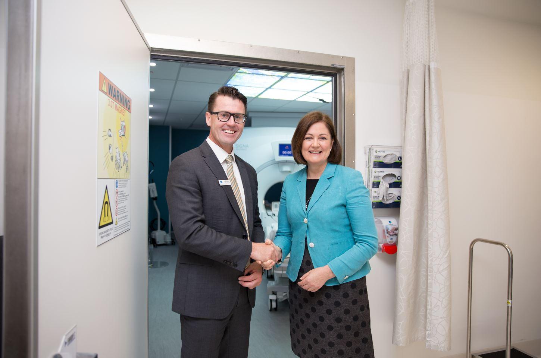 Damian Armour, CEO Epworth Geelong. Sarah Henderson, MP.