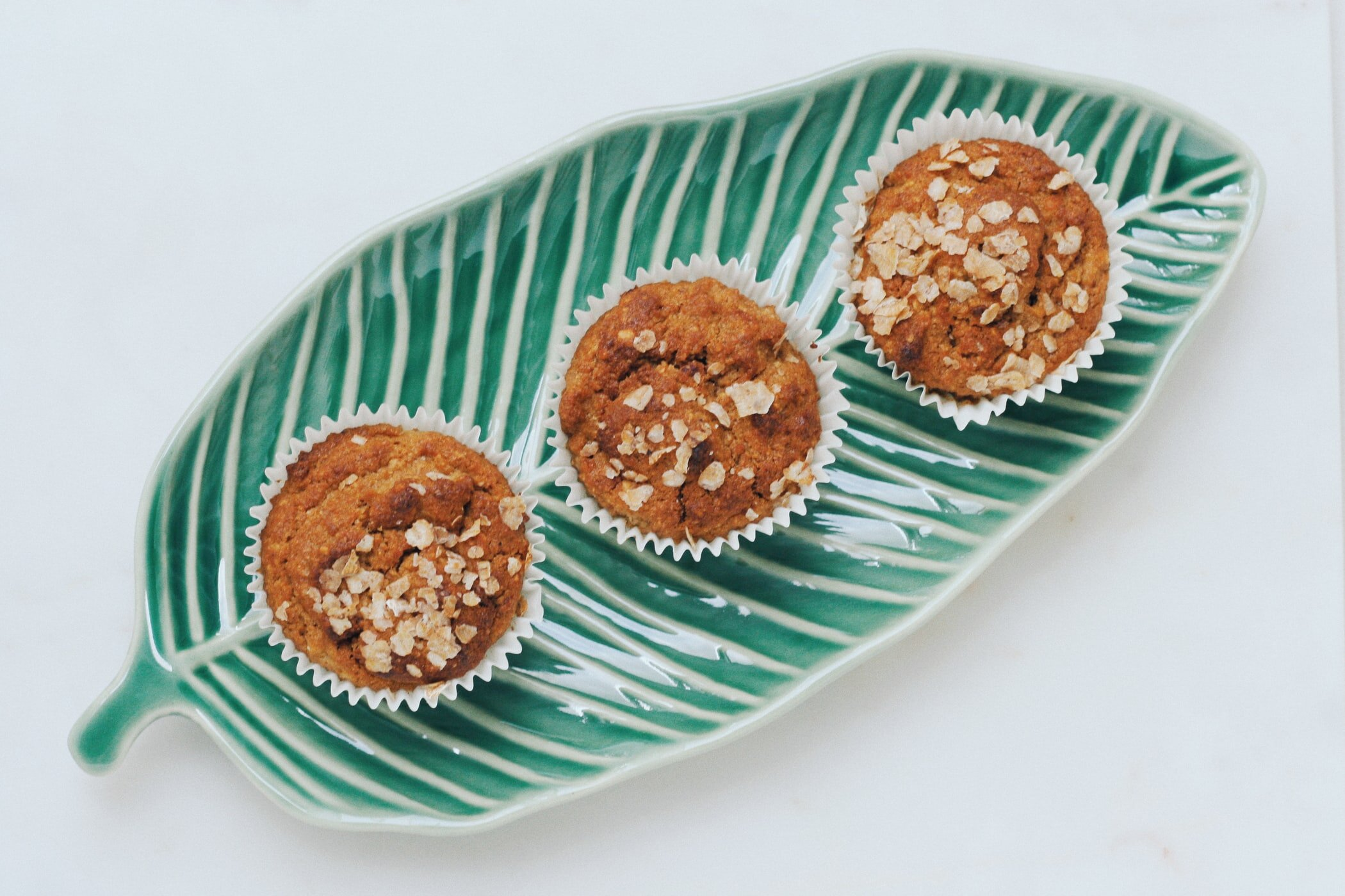 Yoghurt, pear and almond crumble muffins