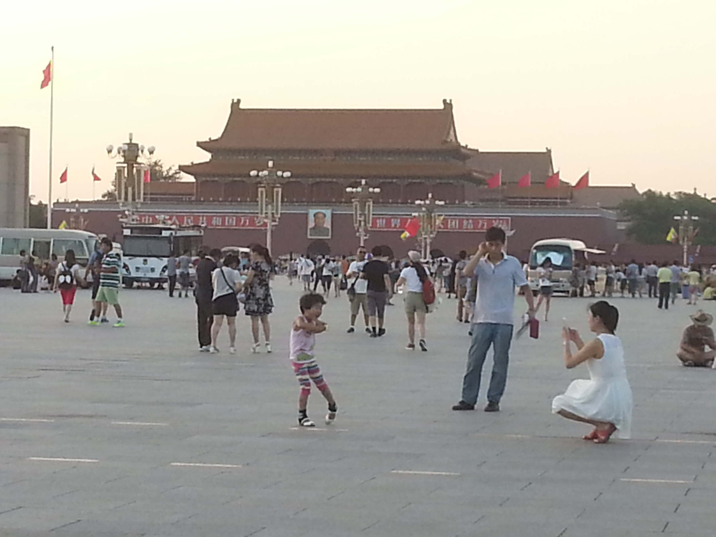 Sunset at Tiananmen Square