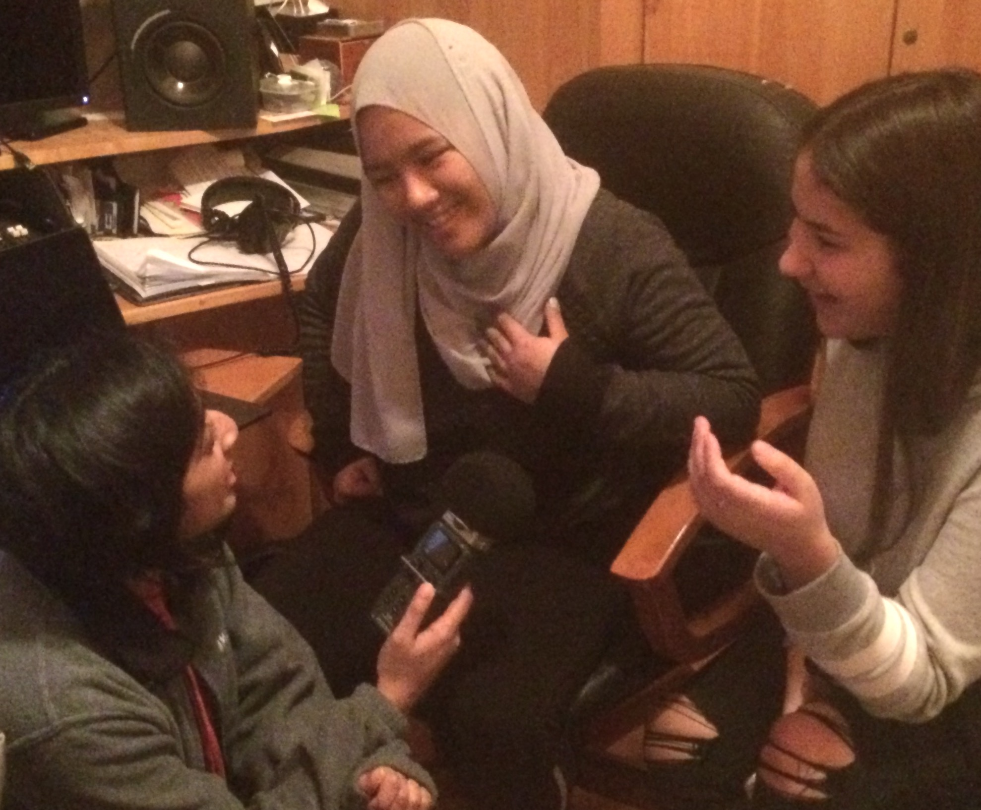 "sana alimohamed recording audio for ""Light and dark"""