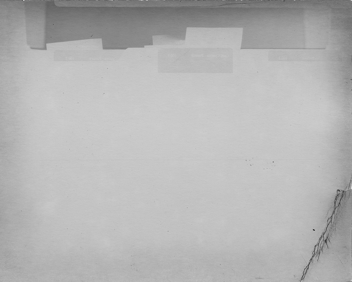 228.3       Black Mountain College Papers     Office of Archives and History     Raleigh, North Carolina,    2011.  Silver gelatin paper negative, 4 x 5 inches.