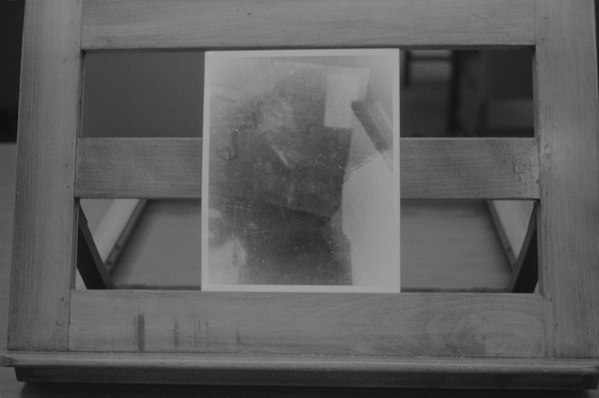 Silver gelatin print on stand.    Black Mountain College Papers Office of Archives and History Raleigh, North Carolina , 2011- 2014.  Pigment print, 3 x 4.5 inches.