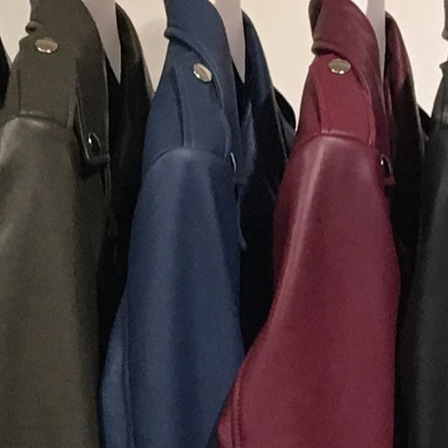 New colours: Oaken, Steel blue and Aubergine #madeinmelbourne #custommade #leatherjacket #handmade #biker #bikerjacket