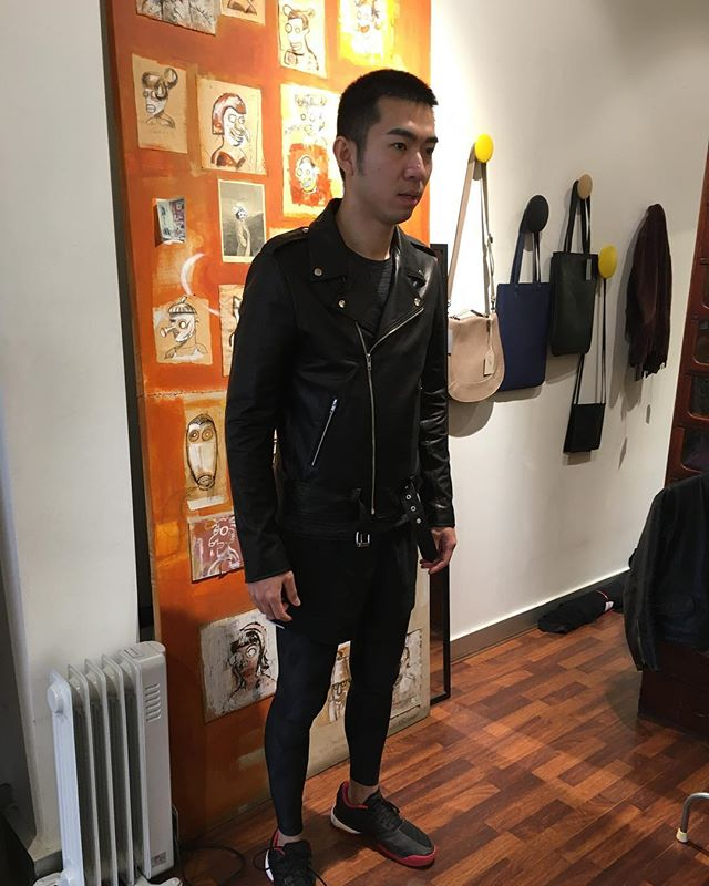 Custom made for Haoyu #mensbiker #custommade #leatherjacket #madeinmelbourne