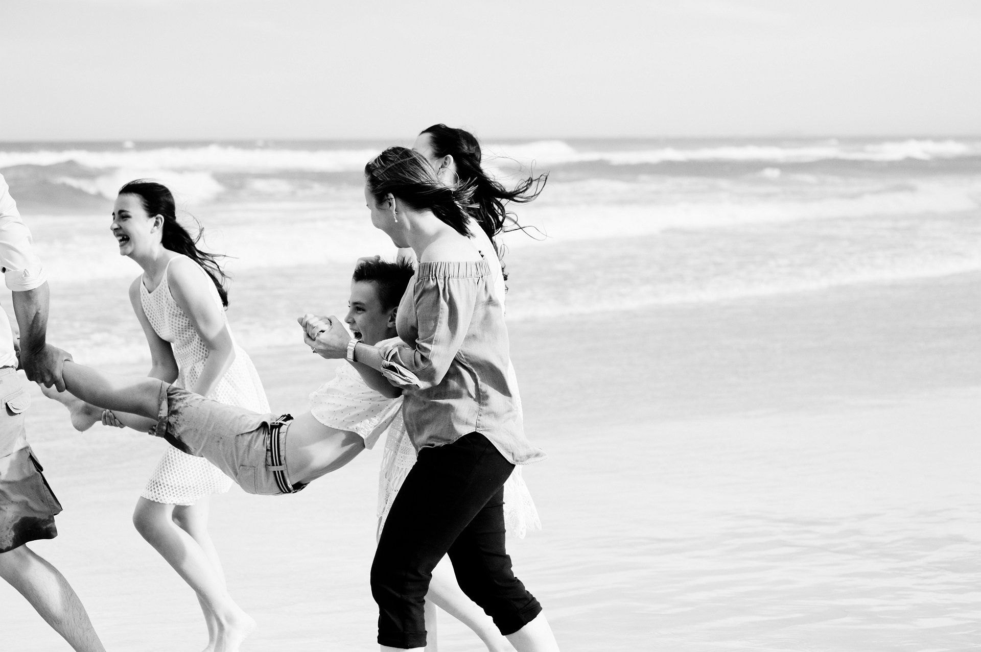 family beach portraits burleigh