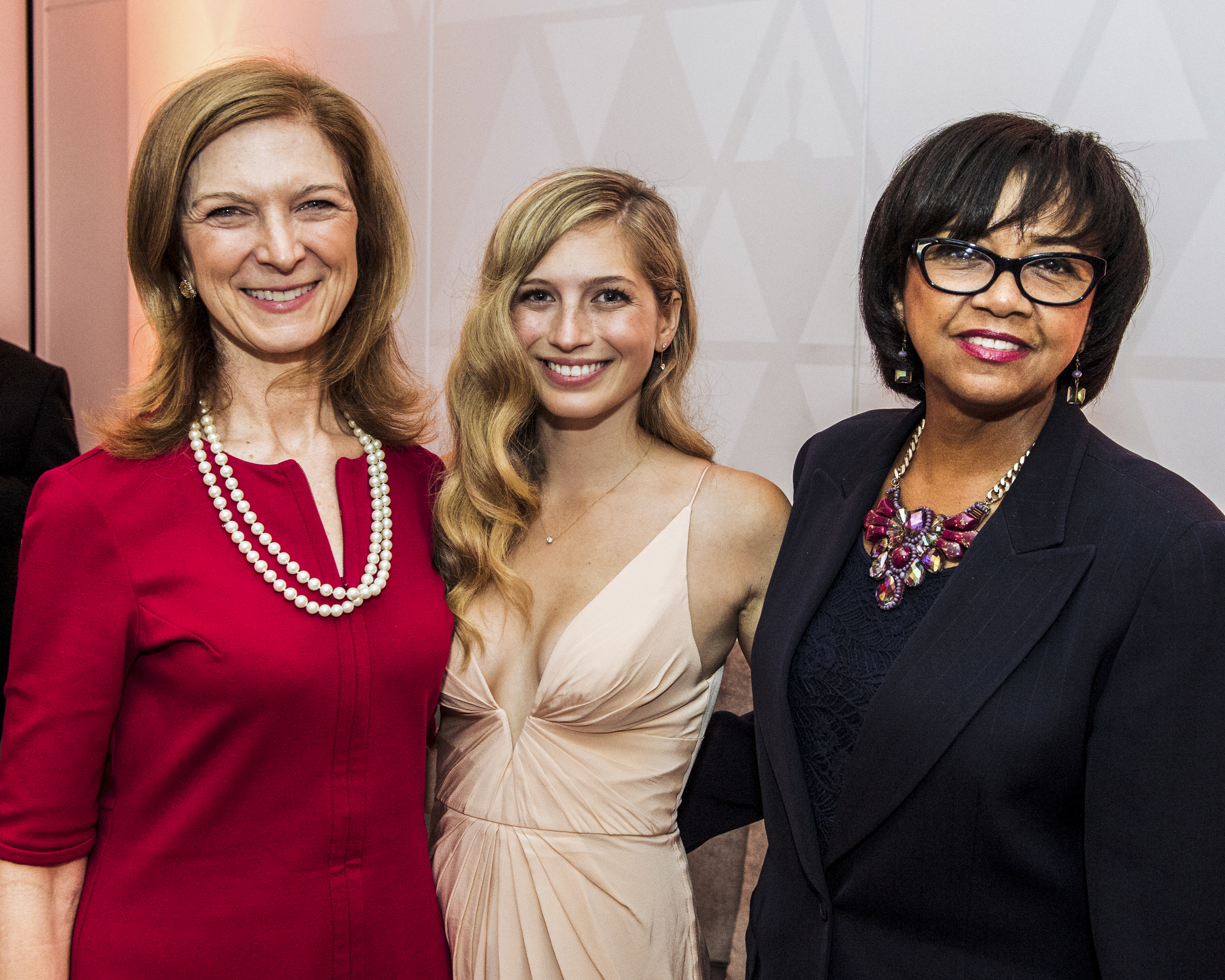 Director Emily Kassie with the Director and CEO of the Academy of Motion Pictures and Sciences