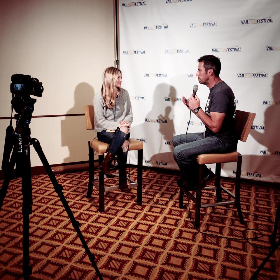 Director Emily Kassie at an interview for Vail Film Festival