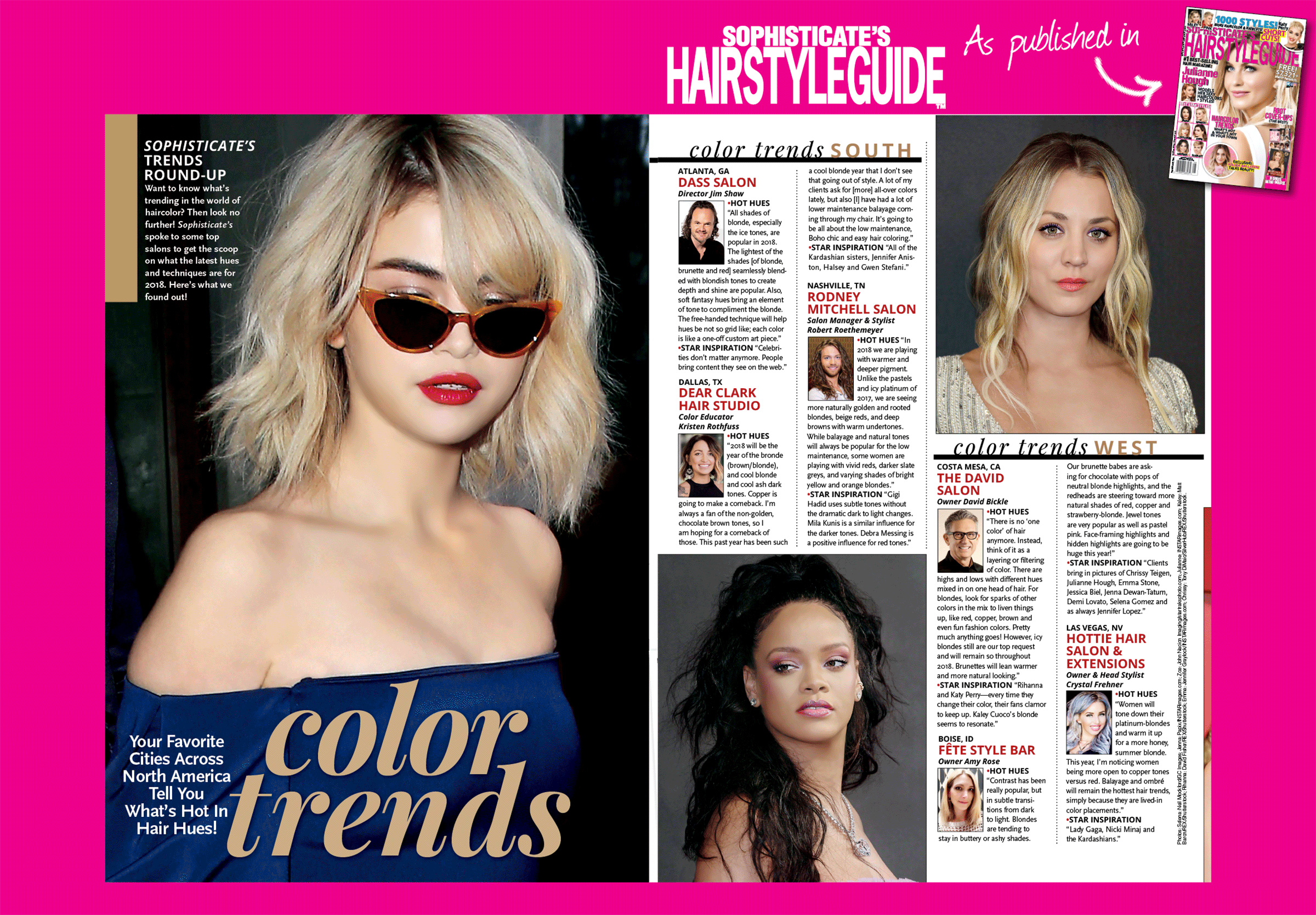 """Check out the Aug. issue of """"Sophisticate's Hairstyle Guide"""" to see the hot trends for 2018, featuring salon manager, Robert's, exclusive interview and tips for styles to go for this year! Thanks again to """"Sophisticate's"""" for recognizing Robert, showing that his hard work is truly paying off!"""