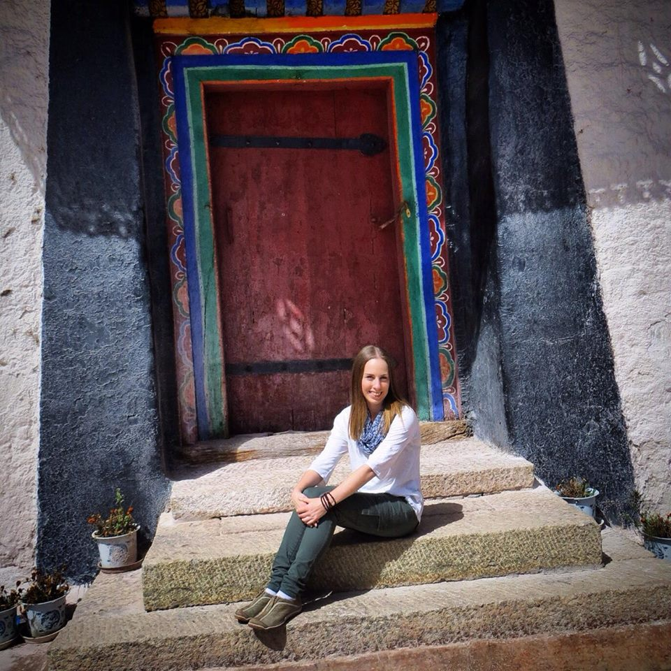 Jess at the Potala Palace in Lhasa, Tibet