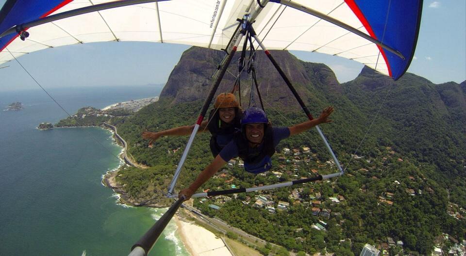 Joanna hanggliding in Rio De Janerio