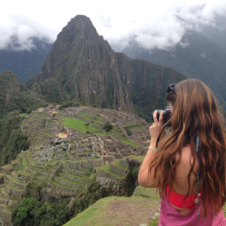Katie celebrating her 26th birthday at Machu Picchu