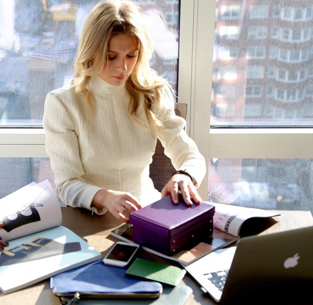 Eva on a typical working Wednesday, researching beautiful travel accessories.