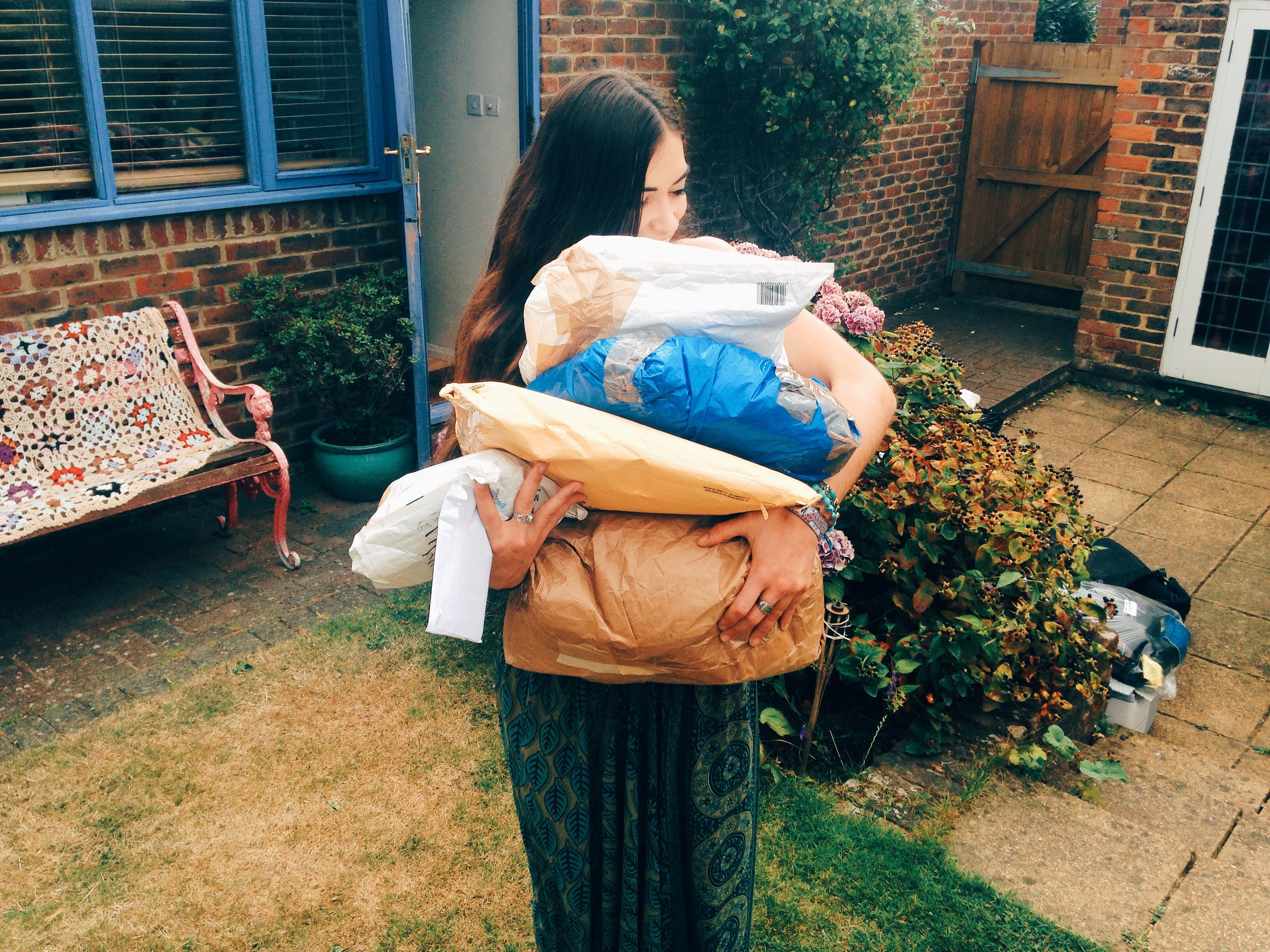 Jasmin collecting donations to be sorted for her next trip to 'The Jungle'