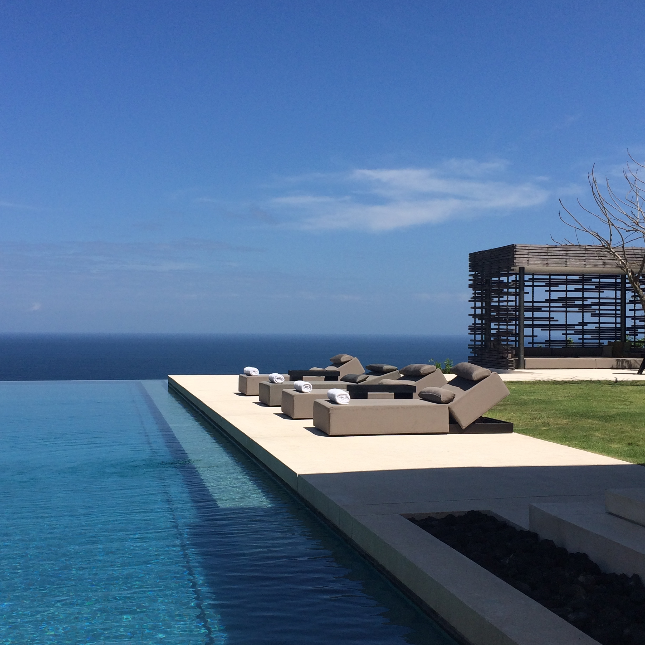 The view from one of Sarah's recent trips to Bali, because everyone deserves a little downtime.