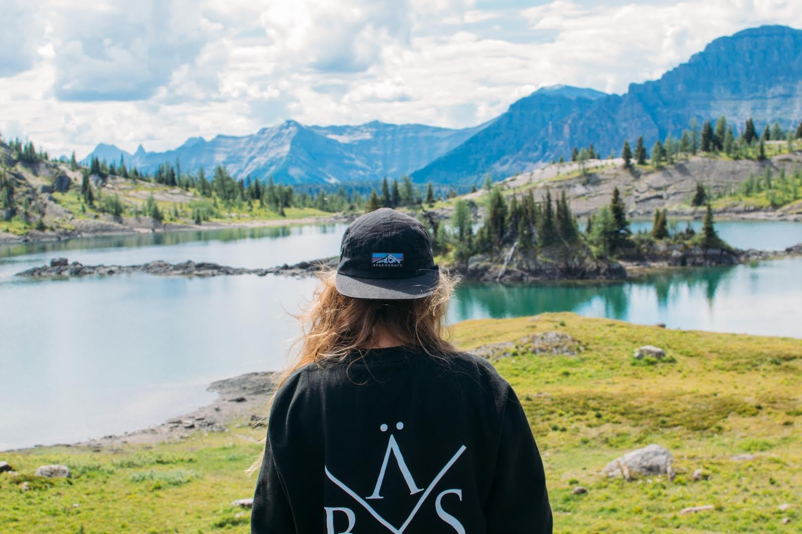 Billie hiking the Sunshine Meadows in, you guessed it, Canada.