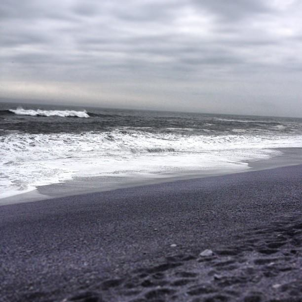 The black sand beaches of Reykjavik, Iceland