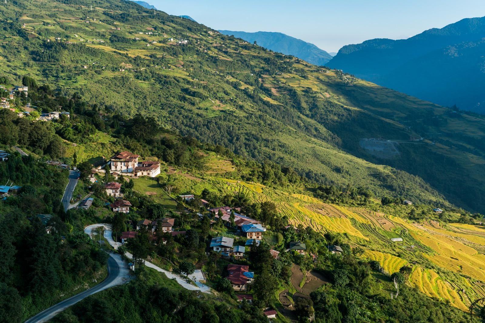 Case in point: we weren't supposed to stop here, but after seeing this view of  Kuengarabten, Bhutan , I knew I needed to spend at least one night here. So we did!