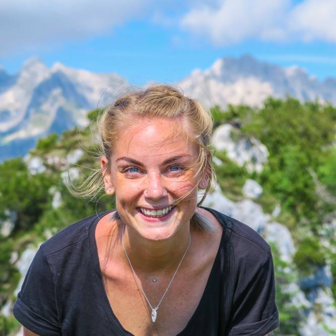 Evelina finding joy in one of her top three destinations, Slovenia