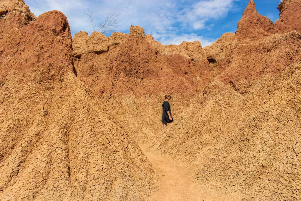 Evelina exploring the Tatacoa Desert of Colombia (photo by @hazel.butler)