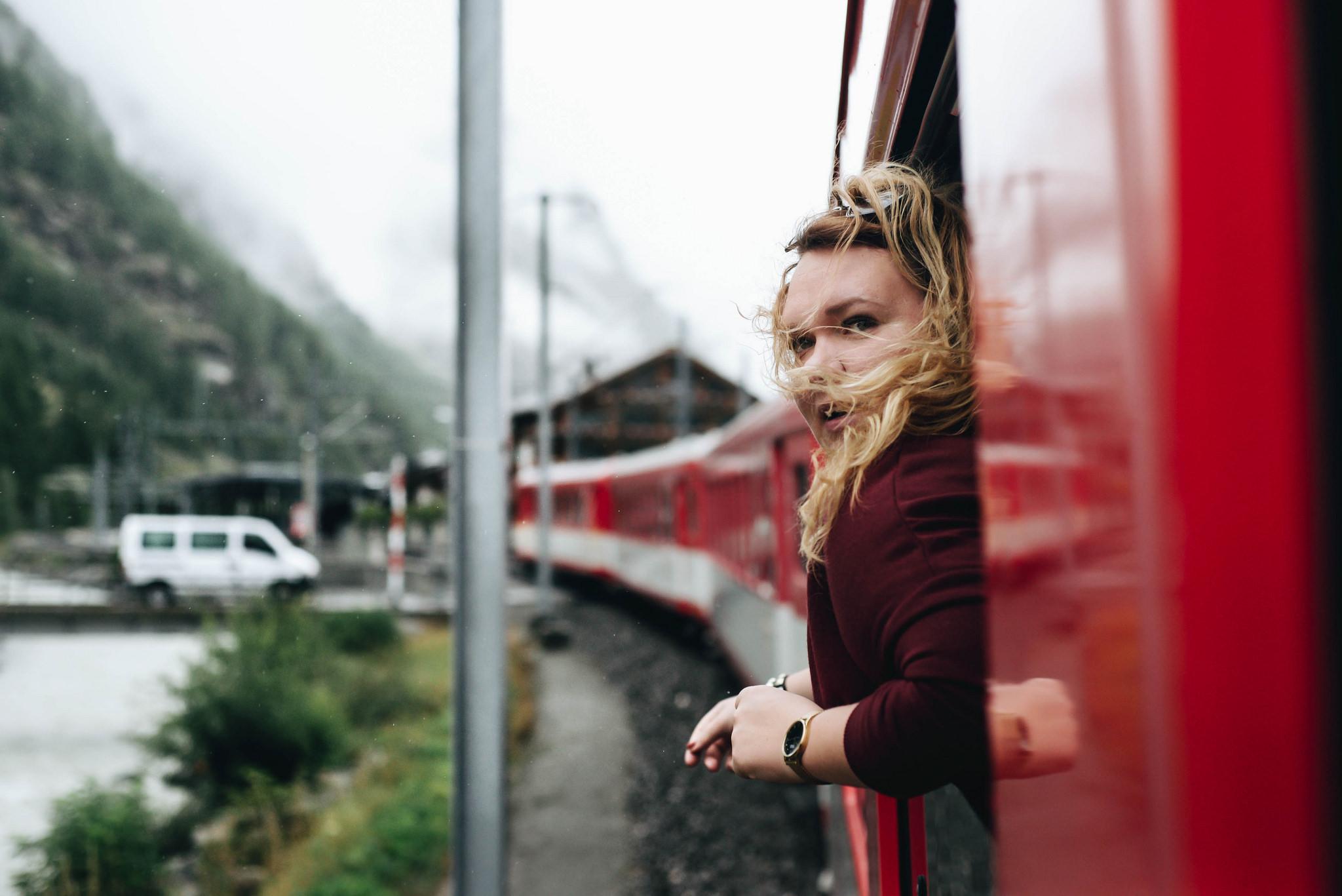 Veera catching the views on a blogger adventure through Zermatt, Switzerland. Photo credit: Rania Rönntoft