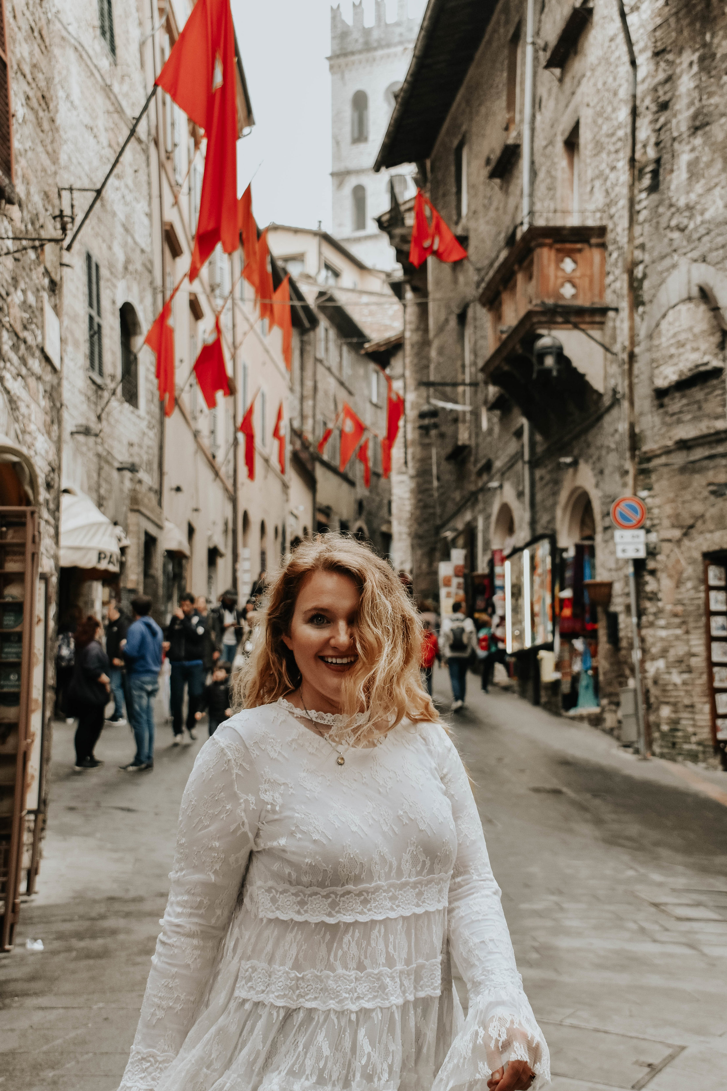 Helene in Assisi, Italy