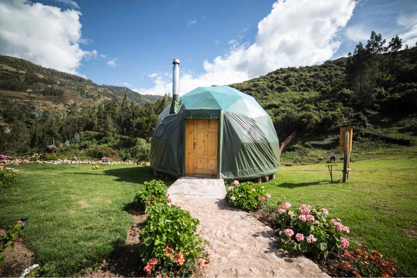 One of the brilliant accommodation options Georgina has discovered through all of her hard work - the EcoCamps Peru biodome, found near Machu Picchu, Peru ( Photo Credit : EcoCamps Peru)