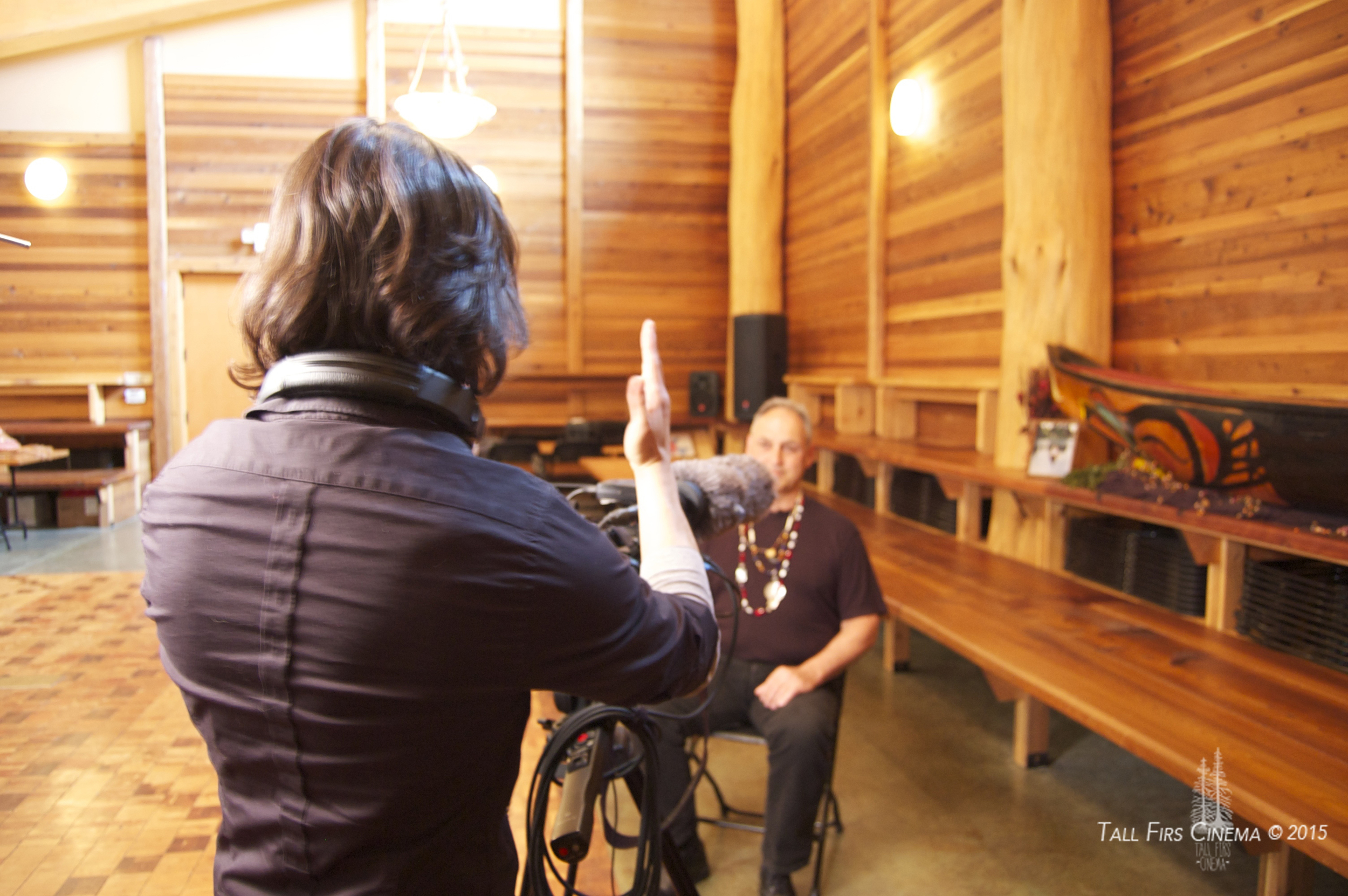 Filming Ken Workman, 4th generation great-grandson of Chief Seattle and a member of the Duwamish Tribal Council. Apart from telling us about the history of the tribe and their relationship to the land, Ken has great stories about his motocross racing days!