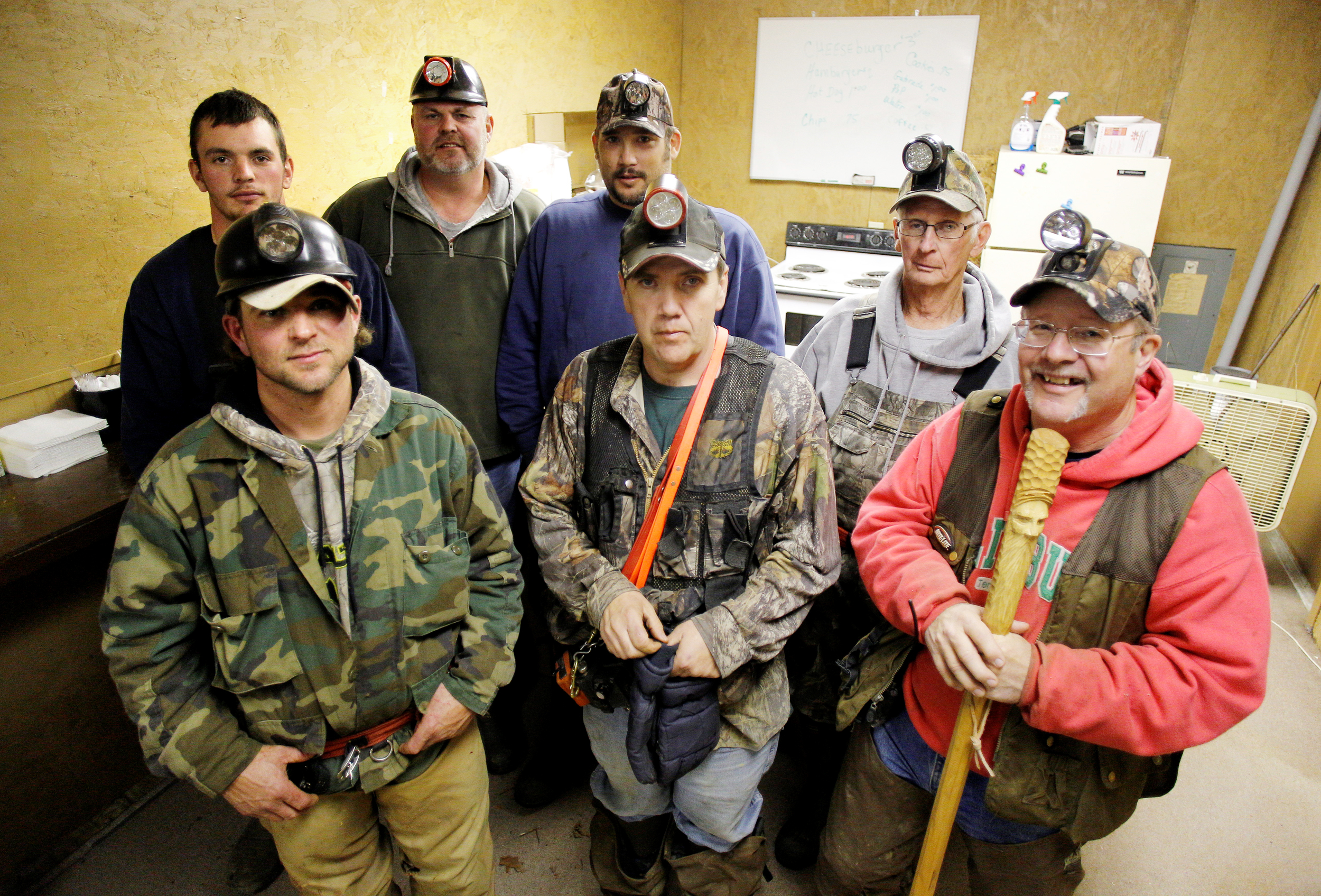 Members of the Glouster Coon Hunting Club.