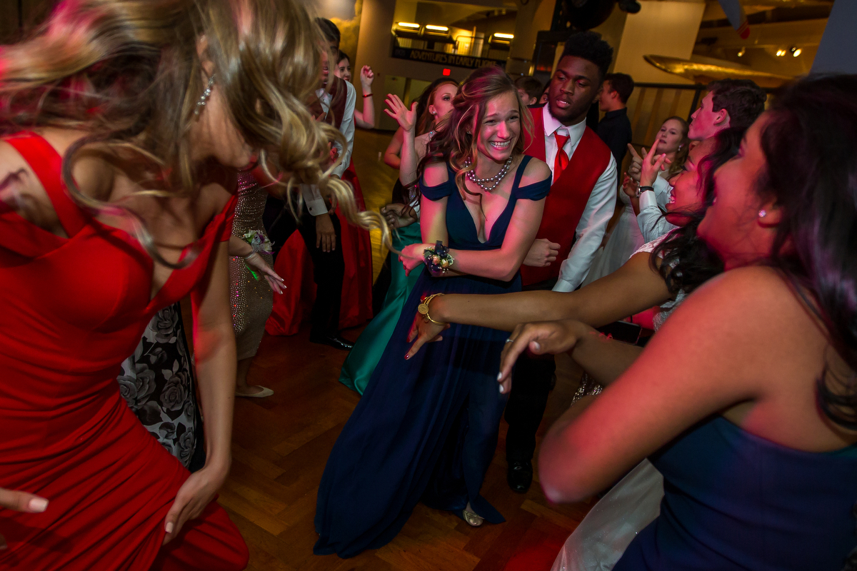 Greenhills High School students attend prom at the Henry Ford Museum on Friday, May 12, 2017. Matt Weigand | The Ann Arbor News