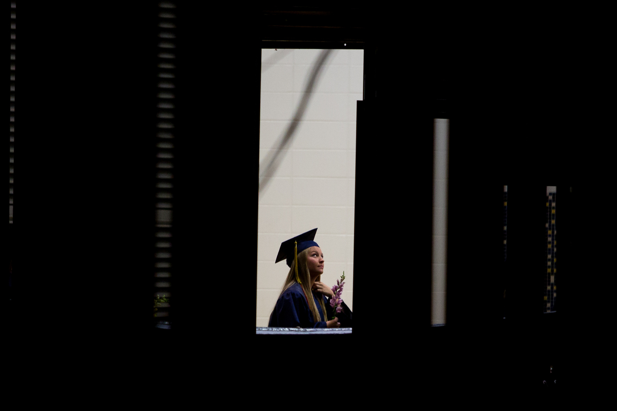 Chelsea High School students attend their graduation at Chelsea High School on Sunday, June 4, 2017. Matt Weigand | The Ann Arbor News