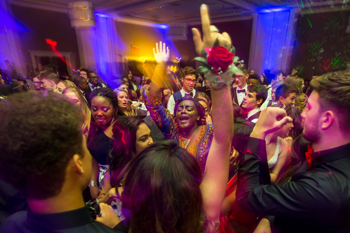 Skyline High School students attend prom at the Sheraton Hotel on Saturday, May 6, 2017. Matt Weigand | The Ann Arbor News