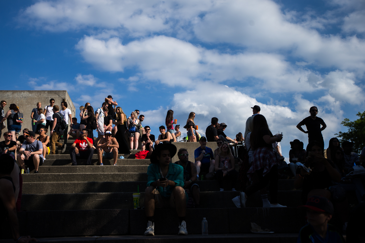 Festival goers pack into Hart Plaza in downtown Detroit for day one of Movement Electronic Music Festival on Saturday, May 27, 2017. Over 100 artists are scheduled to perform over the three-day Memorial Day festival. Matt Weigand | The Ann Arbor News