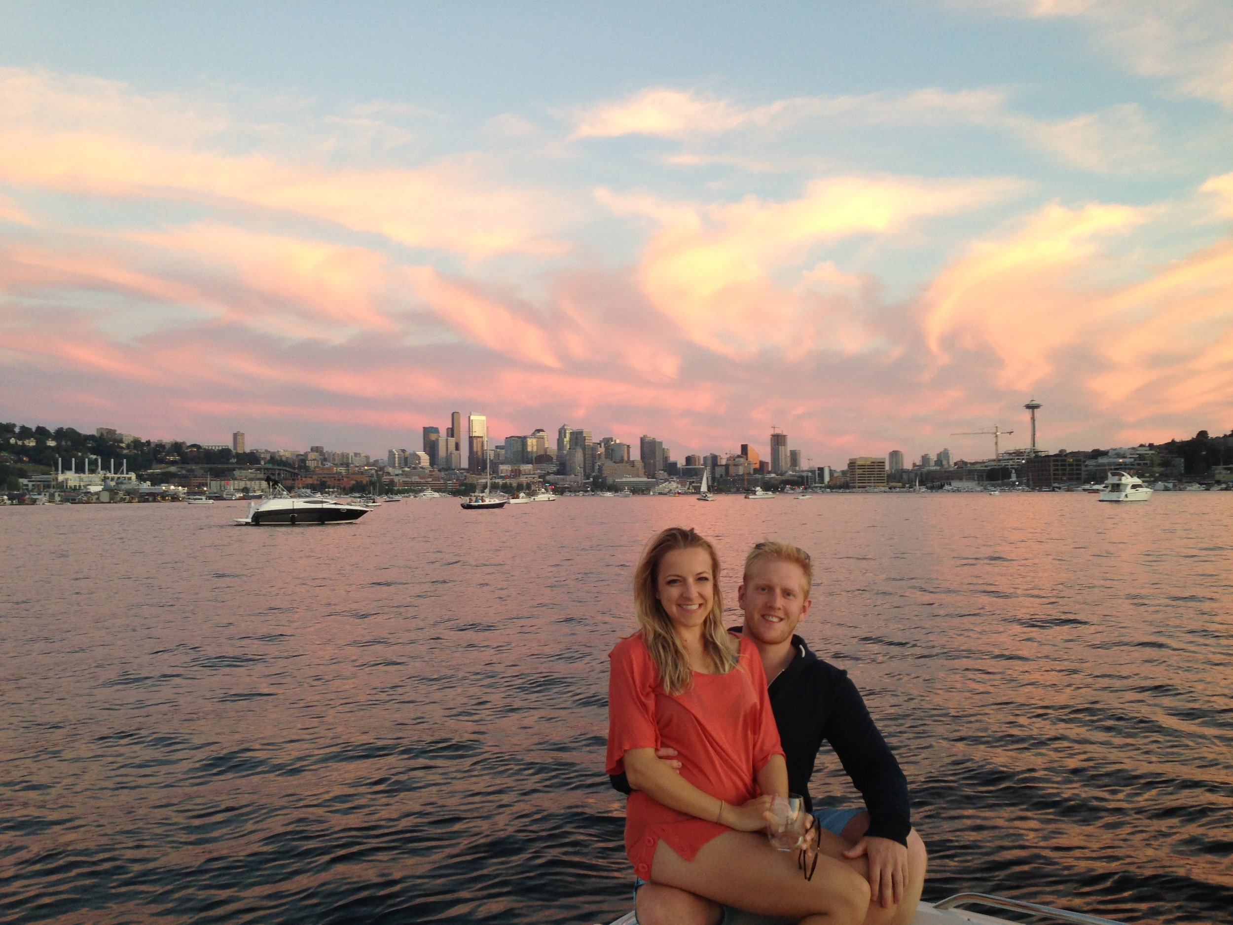 Lake Union & the site of our forthcoming nuptials