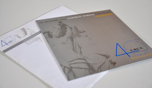 création graphique réalisé par atelier numérique nîmois et imprimerie gutenberg