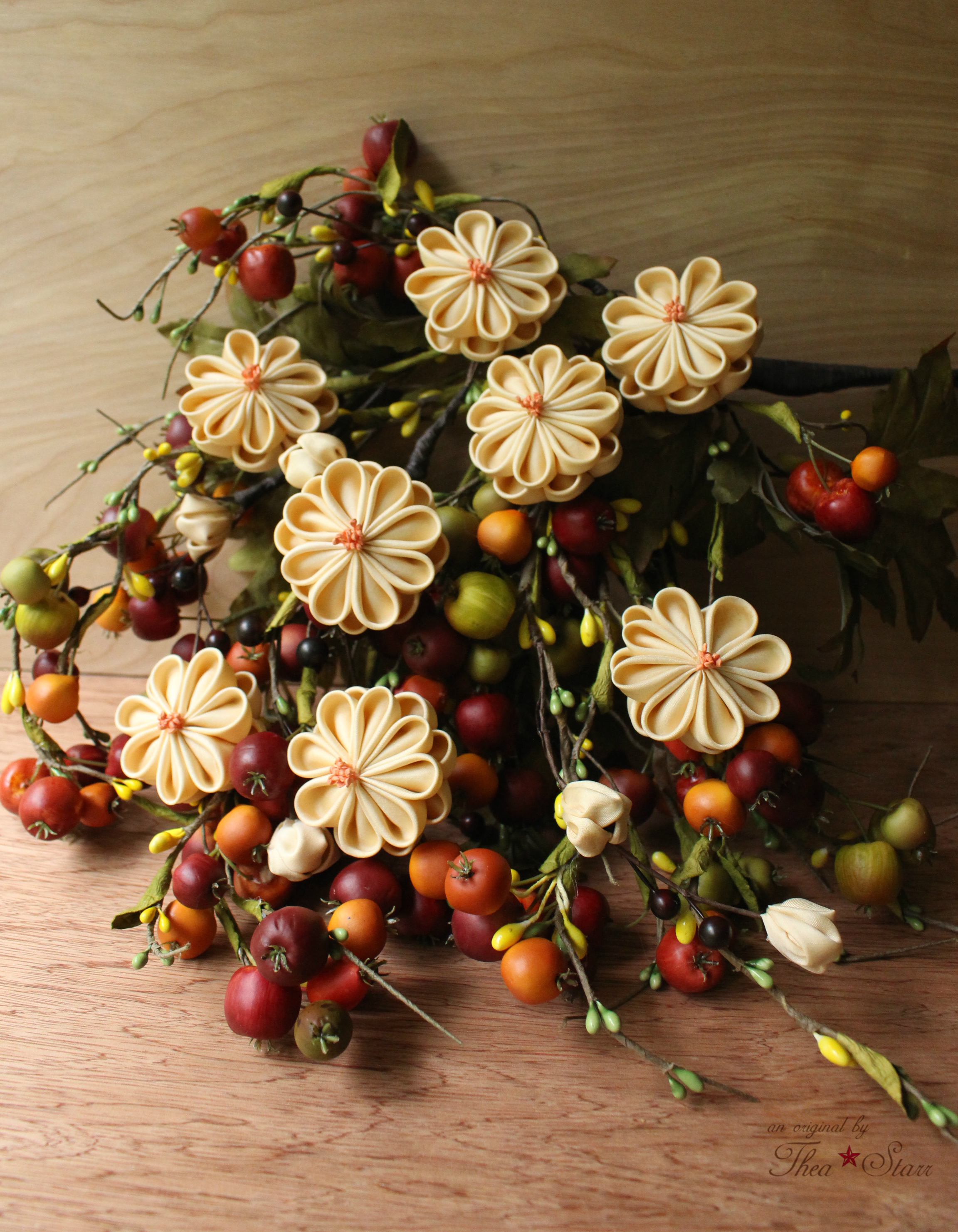 Autumn Harvest Bouquet - Pageant style - will be available at  The Handmade Showroom  later this month.