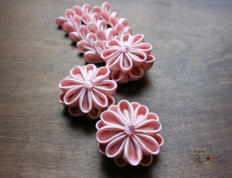 Pink Blossoms 3 Piece Formal Kanzashi Set
