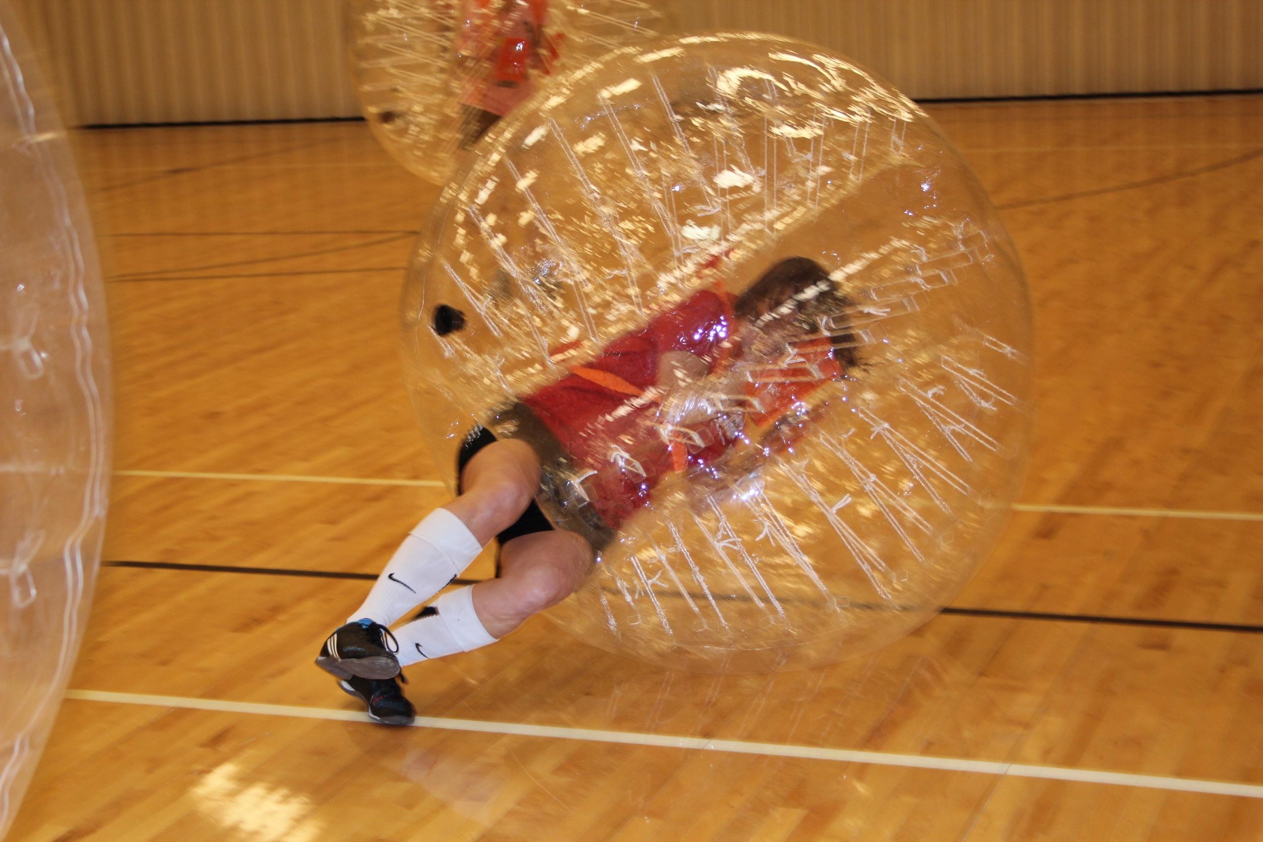 Boomerang Bubble Soccer Balls Sideways