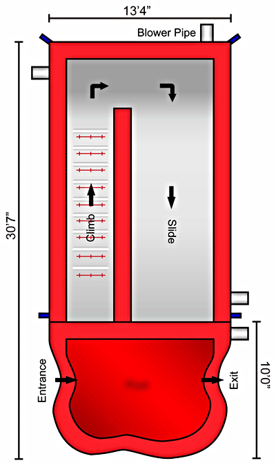 Volcano Dry Slide   Schematic