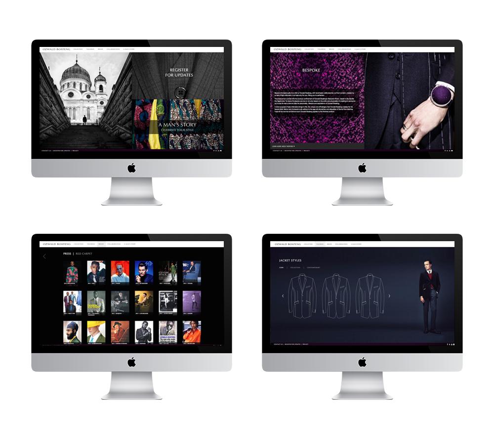 Ozwald Boateng Website Design  / coding: wercreative