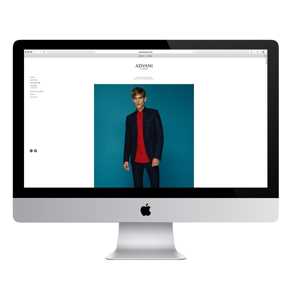 Advani London Website by SanderGee