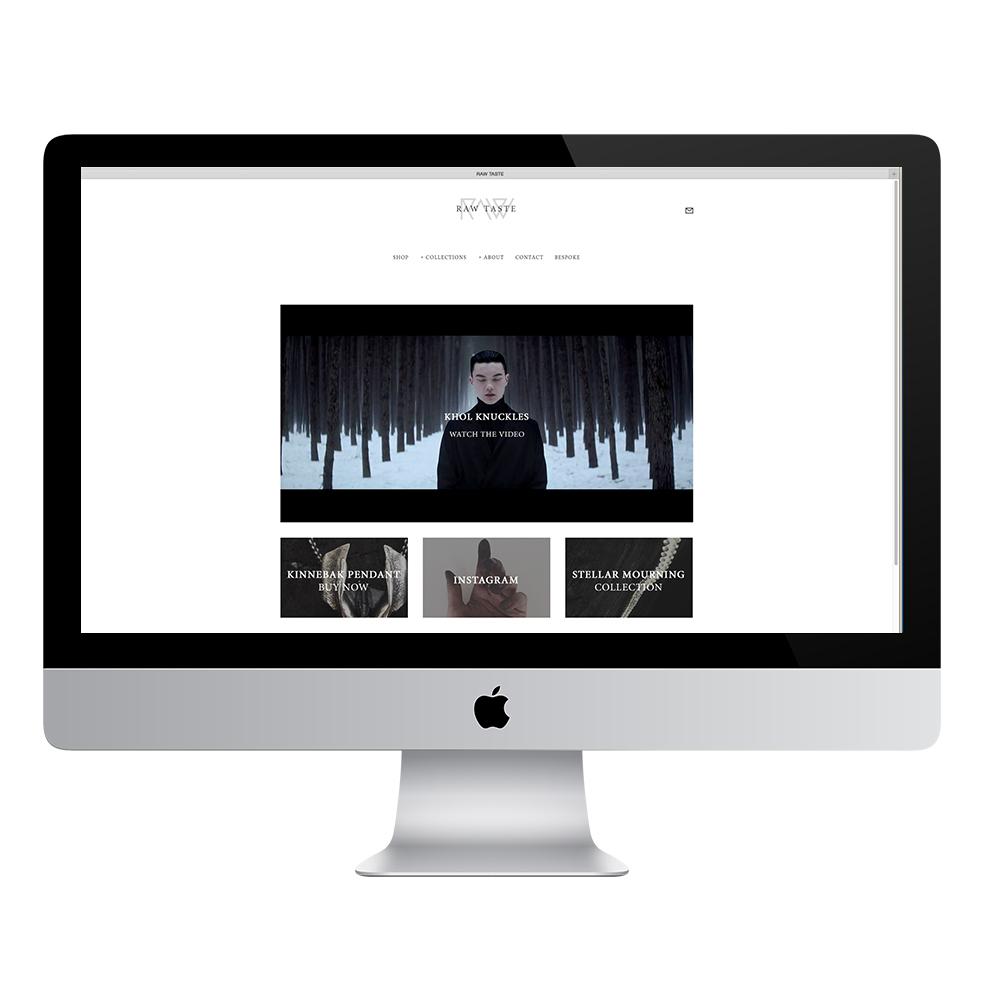 Raw Taste Website by SanderGee