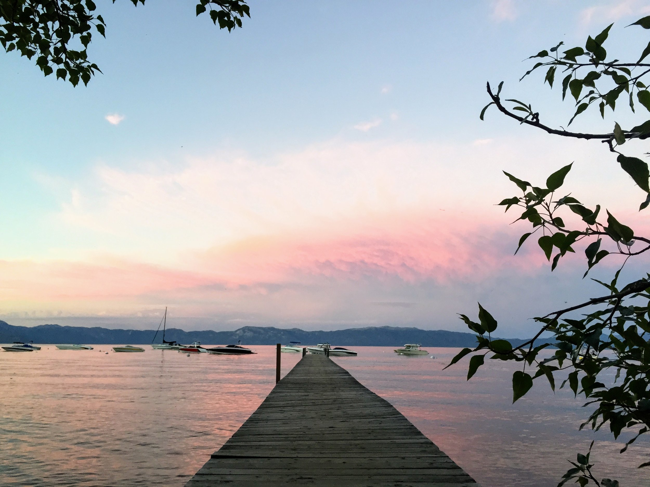 pastels on the lake.