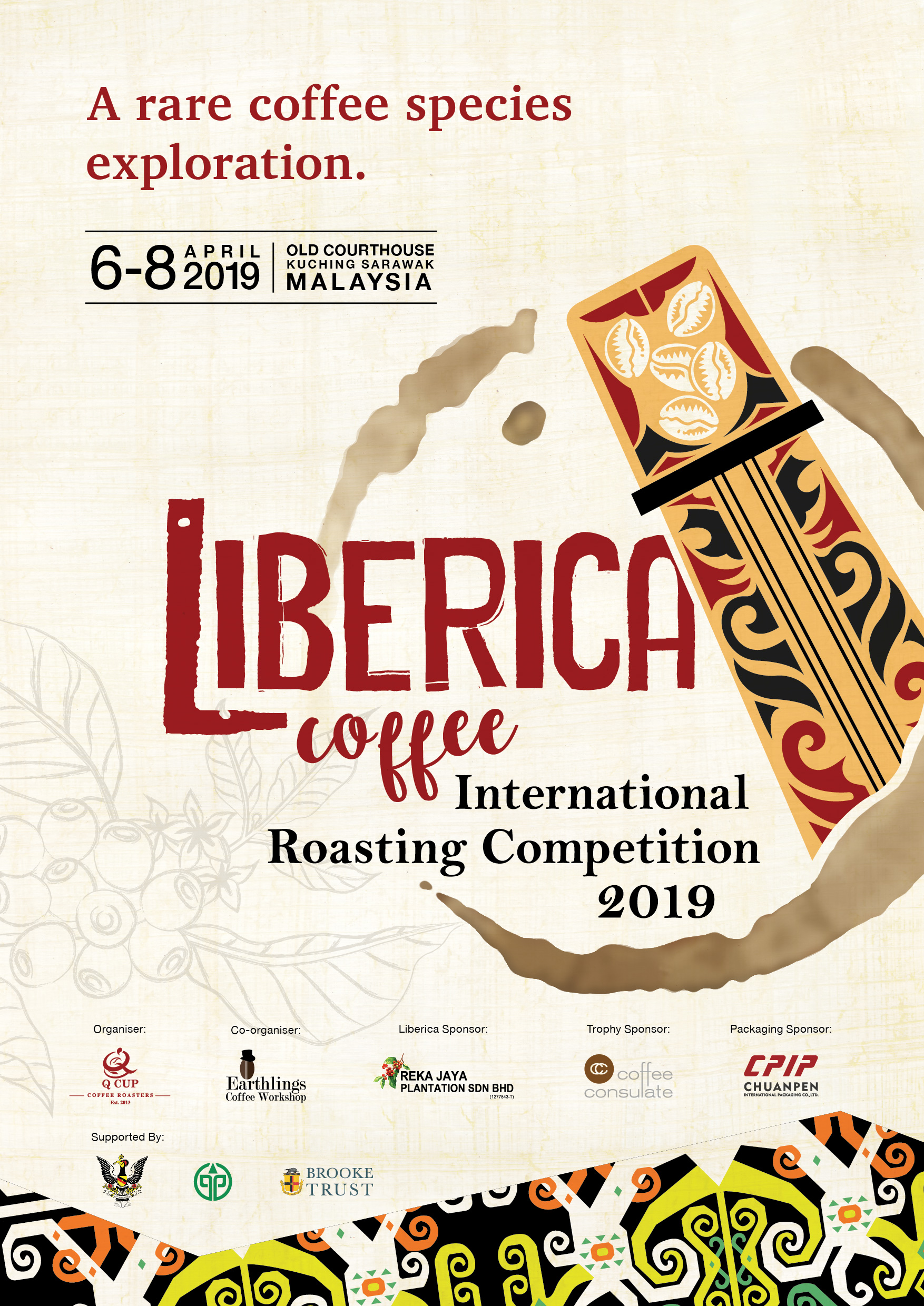 First Liberica Roasting Competition - A Liberica coffee roasting competition – the first of its kind in the industry for this rare coffee bean – will also form part of the events of the weekend. Renowned global coffee roasters will be invited to participate in the competition to test their skills in extracting the ultra-sweetness and complexity of the Liberica coffee bean. More than that they are invited to create their own perception of the Liberica and its taste, based on their own approaches to roasting and their taste palette. Our invited judges are experienced and world-renowned, frequently involved in World Coffee Events and other competitions; for this event, they are challenged to judge this competition in a novel way.