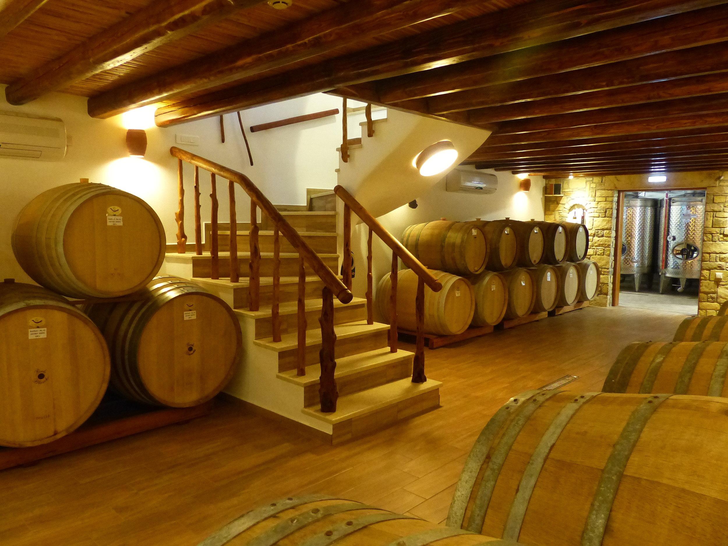 lipsi winery cellar