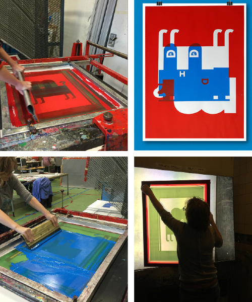 TOGETHER WITH MIRTHE VAN DOORNIK AND AMSTERDAM GRAFISCH ATELIER WE MADE LIMITED EDITIONS SCREEN PRINTS.